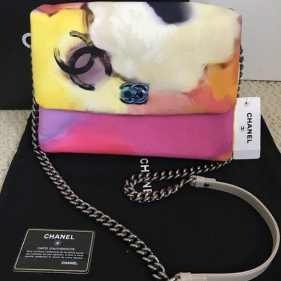 f184f827da5054 CHANEL Bags   Flap Flower Power Handbag Multicolor Canvas   Poshmark